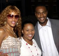 Eve, Natalie Desselle-Reid and Brian Hooks at the UPN Stars Party.