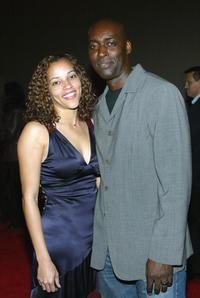 April and Michael Jace at the third season premiere screening of