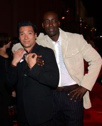 Benito Martinez and Michael Jace at the premiere of
