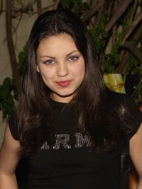 Mila Kunis at a party benefitting the Environmental Association (EMA) hosted by Vanity Fair and Guess.