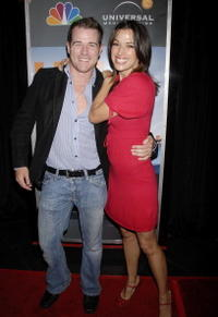 Derek Phillips and Brooke Langton at the premiere of