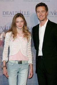 Eleanor Tomlinson and Edward Norton at the photocall of