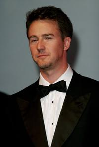 Edward Norton, Neil Burger and Eleanor Tomlinson at the premiere for