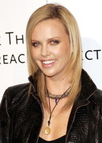 Charlize Theron at the Amped for Africa event.