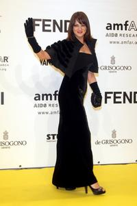 Asia Argento at the amfAR's Inaugural Cinema Against AIDS Rome, held at the Spazio Etoile.