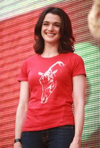 Rachel Weisz at the Live Earth New York show.