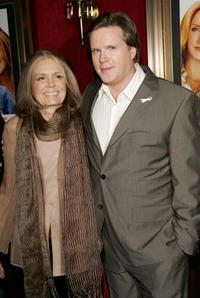 Cary Elwes and author Gloria Steinem at the premiere of Georgia Rule.