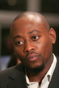 Omar Epps at the announcement of the creation of exclusive ''House-ism'' t-shirts.
