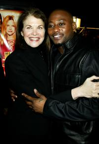 Omar Epps and Sherry Lansing at the premiere of