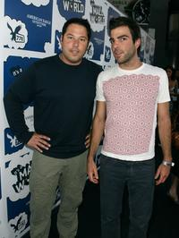 Greg Grunberg and Zachary Quinto at the premiere of