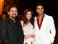 Director Nikhil Advani, Twinkle Khanna and Akshay Kumar at the special screening of