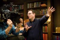 Director Mark Waters on the set of