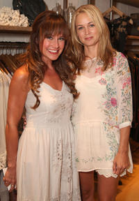 Nikki DeLoach and designer Christie Whitley at the Johnny was Celebrates Fashion's Night Out in California.