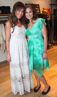 Nikki DeLoach and Faith D'Amato at the Johnny was Celebrates Fashion's Night Out in California.