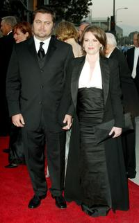 Nick Offerman and Megan Mullally at the Walt Disney Concert Hall opening gala.