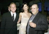 Alan Tudyk, Bridget Moynahan and Alex Proyas at the afterparty premiere of
