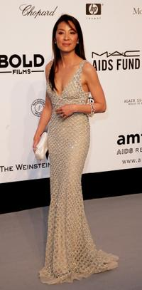 Michelle Yeoh at the Cinema Against AIDS 2007 in aid of amfAR at during the 60th International Cannes Film Festival.