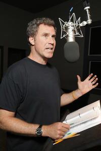 Will Ferrell on the set of