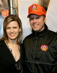 Will Ferrell and his wife Viveca Paulin at the premiere of