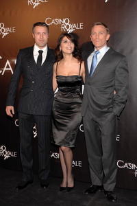 Mads Mikkelsen, Caterina Murino and Daniel Craig at the German premiere of