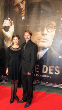Stine Stengade and Mads Mikkelsen at the German premiere of