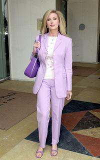 Morgan Fairchild at the Women In Film Silver Anniversary Crystal Awards Luncheon.