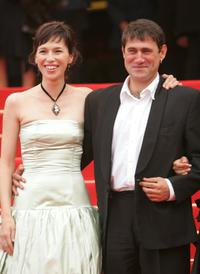 Ariadna Gil and Sergi Lopez at the premiere of