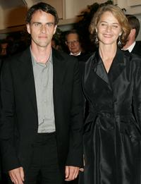 Laurent Lucas and Charlotte Rampling at the 58th International Cannes Film Festival opening night gala.