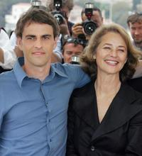 Laurent Lucas and Charlotte Rampling at the photocall of