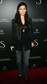 Rhona Mitra at the opening of