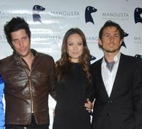 Shawn Andrews, Olivia Wilde and Tao Ruspoli at the premiere of