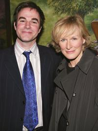 Roger Bart and Glenn Close at the opening of