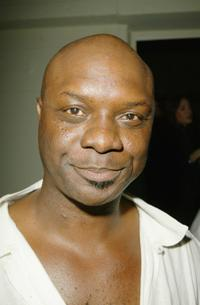 Robert Wisdom at the opening party of Sheila Kelleys Factor Studio (A stripping and pole dancing workout studio for women).