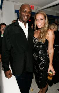Robert Wisdom and Agnes Bruckner at the after party of