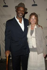 Robert Wisdom and Liz Marx at the event marking the fourth season of