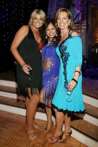 Fiona Falkiner, Arianne Caoili and Kerry Armstrong at the Dancing With The Stars after show drinks party.