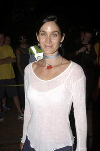 Carrie-Anne Moss at the Intel tropfest 2002.