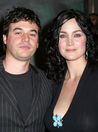 Carrie-Anne Moss and Steven Roy at the premiere of