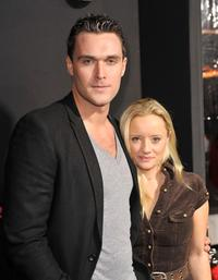 Owain Yeoman and Lucy Davis at the premiere of