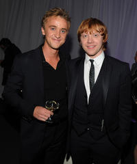 Tom Felton and Rupert Grint at the New York premiere of