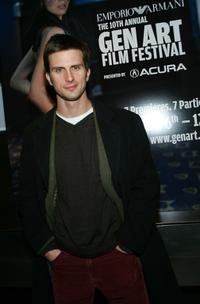 Frederick Weller at the 10th Annual Gen Art Film Festival launch party.