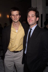 Frederick Weller and Paul Rudd at the opening night party of