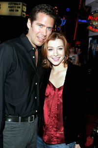 Alexis Denisof and Alyson Hannigan at the California premiere of