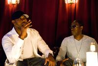 Director Antoine Fuqua and Wesley Snipes on the set of