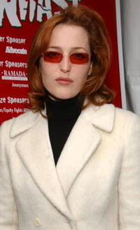Gillian Anderson at the 4th Annual Comedy Benefit Show