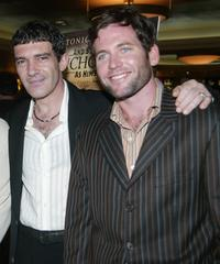 Antonio Banderas and Eion Bailey at the premiere of
