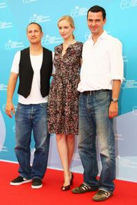 Benno Furmann, Nina Hoss and Director Christian Petzold at the 65th Venice Film Festival.