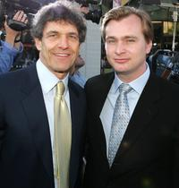 Alan Horn and Christopher Nolan at the premiere of