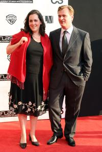 Emma Thomas and Christopher Nolan at the Chicago premiere of