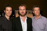 Mark Stolaroff, Christopher Nolan and Peter Broderick at the American Cinematheque screening of